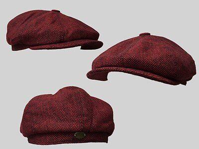 8 panel bakerboy,newsboy,peaky blinder 1920s CHEESE CUTTER FLAT CAP CHRISTMAS GI