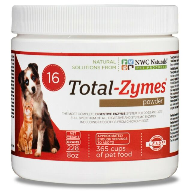 NWC Naturals Total-Zymes Digestive Enzymes for Dogs and Cats Immune Powder - 8Oz