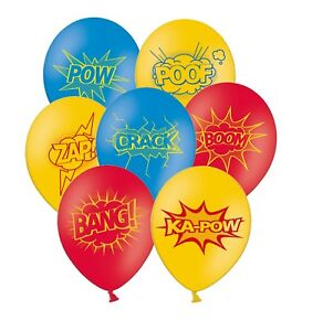 Super-heroe-Coleccion-30-5cm-surtido-con-Amarillo-Globos-latex-5ct-por