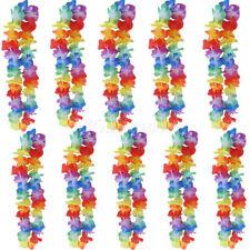 10x Hawaiian Flower leis Garland Necklace Fancy Dress Party Hawaii Beach Decor