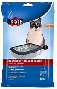 1 X Trixie 10 Pack - Sacs / doublures pour bac à litière pour chat 3 tailles simples ou en vrac