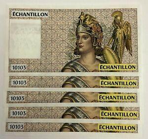 France Test note 10103 Echantillion UNC