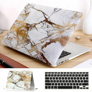 outlet store fe20b 95a8f Details about 2in1 Gold Marble Hard Case + Keyboard Cover for Macbook Air  Pro 13 inch