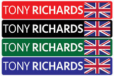5 x Personalised Name & Flag Cycling Helmet Frame Bike Team Sticker 12mm Decal