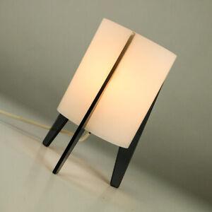 Tisch-Lampe-Tripod-Rocket-Lese-Leuchte-Acrylglas-Vintage-Shelf-Lamp-50er-60er