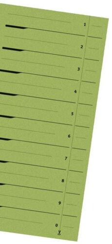 Trennblätter grün Register Einleger Karton für A4 Ordner 24x30 ab 0,20€//Stk #