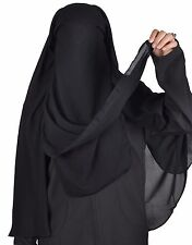 Extra lang Niqab Gesichtsschleier Hijab Gebets- Islamische Kleidung HI0383