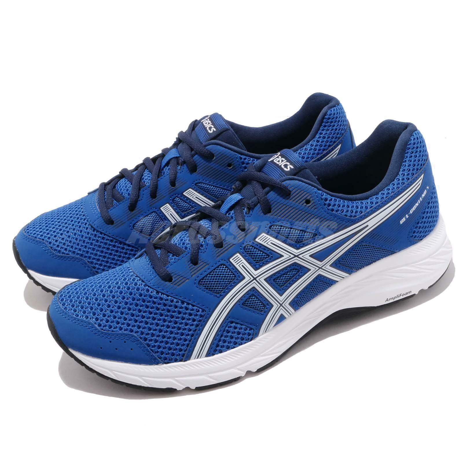 Asics Gel Contend 5 Imperial bluee White Men Running shoes Sneakers 1011A256-400