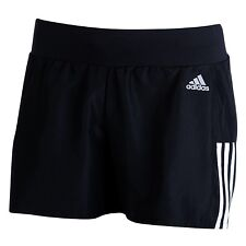 Adidas Women's Quest Running Shorts Black/white Size 8-10 BNWT