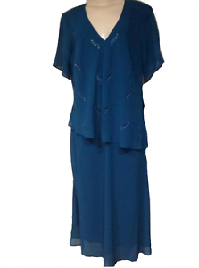 Mother Of Bride Women/'s Wedding evening party cocktail Tunic top plus 1X 2X 3X
