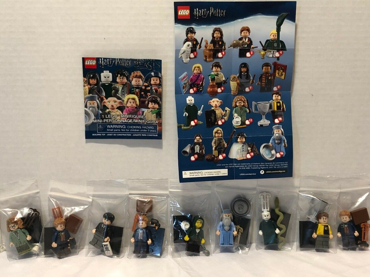 LEGO 2018 HARRY POTTER FANTASTIC BEASTS MINIFIGURE LOT OF 9 MINIFIGURES - NEW