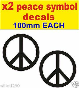 Image Is Loading 2x Peace Symbol Karma Yoga Aum Wall Vinyl