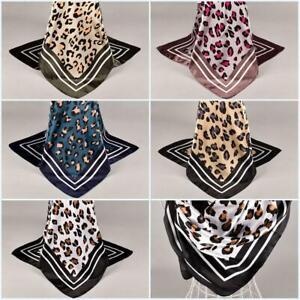 Lady-leopard-Hijab-Scarf-Silk-Satin-Fashion-Square-Head-Shawl-Wrap-90-90cm-Favor