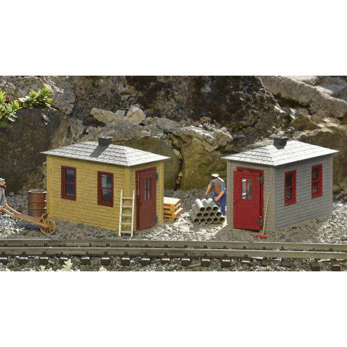 PIKO Railroad Tool Sheds 2pcs  Pre-Built  G Gauge 62718