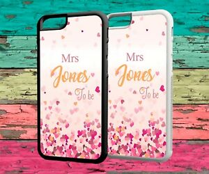 competitive price 7ae9d d709d Details about Personalised Phone Case Name Wedding Bride Protective Rubber  Cover For Iphone