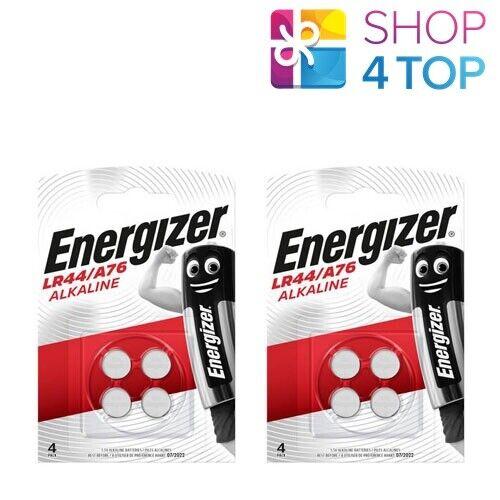 8 energizer alkaline batteries lr44 a76 1.5v g13 ag13 exp 2022 new
