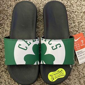 Nike Benassi Solarsoft NBA Slides Size 7 Sandals Green White Boston Celtics