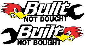 BUILT-NOT-BOUGHT-STICKERS-PAIR-LEFT-AND-RIGHT-FACING-JDM-RACE-CAR-STICKER