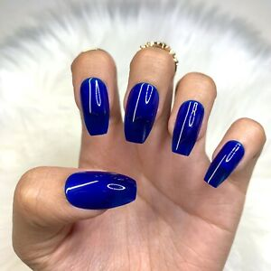 False Nails Extra Long Fake Nail Coffin Glue Full UV Gel