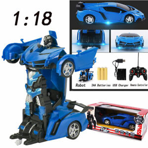 2 In 1 Rc Robot Car Toys Remote Control Car Transformer Kids Boys Toy Cars Toys Ebay