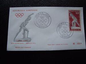 Umschlag 1 Willensstark Gabun b1 Briefmarke Fortgeschrittene Technologie üBernehmen Tag 10/5/1972