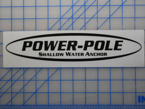 """Power Pole Sticker Decal 11/"""" 17/"""" 23/"""" Anchor Spike Blade Shallow Water Cylinder"""