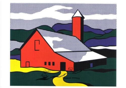Red Barn II Roy Lichtenstein Kunstpostkarte