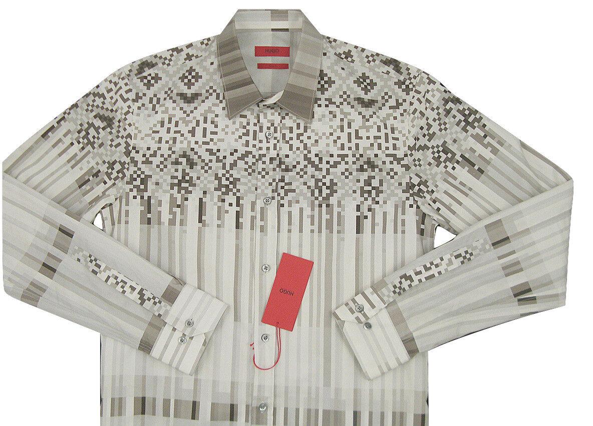 NEW  Hugo by Hugo Boss Red Label  Shirt   Sm  Modern  Slim Fit  Short Length