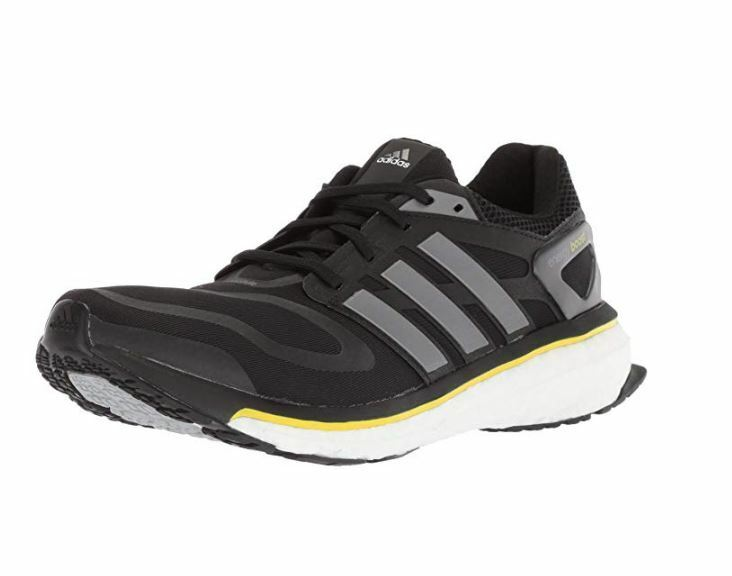 Adidas Men's Energy Boost m Running shoes, Black White Yellow, Size 7