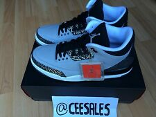 Nike Air Jordan 3 Wolf Grey Retro III Black-Silver Cement Print RARE AJ3 UK 10