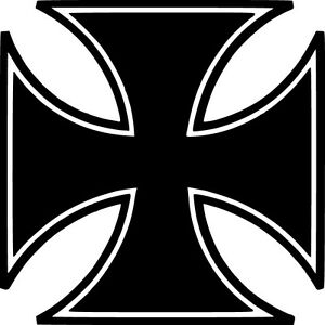 Iron-Cross-Vinyl-Sticker-Decal-Knights-Choppers-Choose-Size-amp-Color