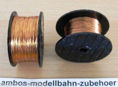 (1m=0,05€) 2x 100 Meter Kupfer-Lackdraht 0,2 +0,3 mm für Bastler, Neuware