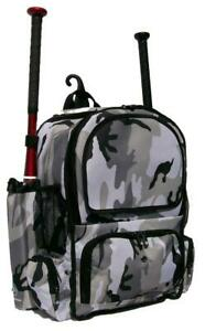 Youth Baseball Softball Bat Backpack in Grey Camouflage Chita CY Small Maxops