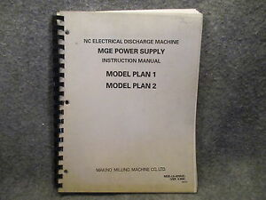 makino milling nc electrical discharge machine instruction manual rh ebay com makino manuals pdf makino manual cvs1