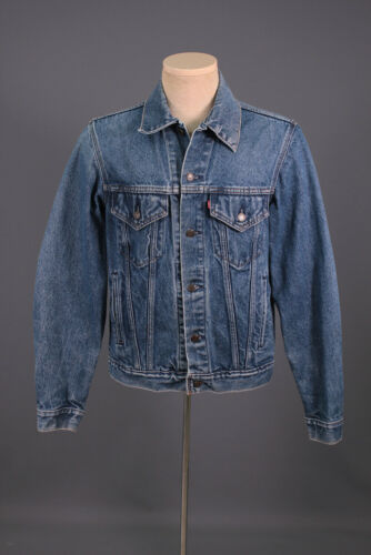 Men's 1980s 1990s Levis Trucker Jean Jacket M 80s