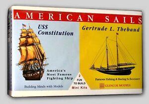 uss constitution thebaud sailing ships glencoe dual kit 3303 new