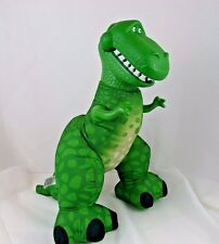 "Toy Story 14"" Roaring Rex Dinosaur Roaring Green Squeeze Toy 2009 Tyranosaurus"