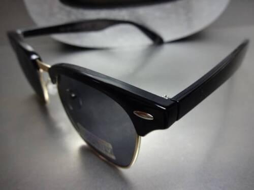 Men Women CLASSIC VINTAGE 60s RETRO Style POLARIZED SUN GLASSES Black Gold Frame
