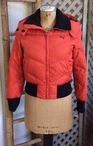 9132ae88f66e PUMA Snow Ski DOWN COAT Puffer Jacket TOMATO-RED Orange Fall Winter ...