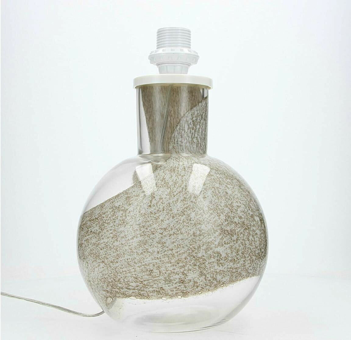 A Flygsfors   Orrefors lamp Clear & Weiß bubble glass Swedish Vintage