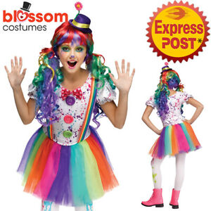 Ladies Crazy Color Clown Halloween killer Fancy Dress Tutu Costume
