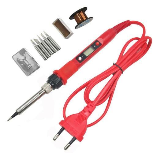 Soldering Iron Kit Electric 110V 220V Temp Adjustable Solder Gun Welding 60W 80W