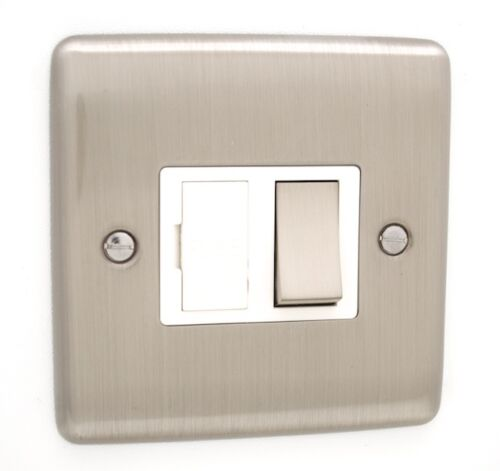 Definition Brushed Chrome Sockets and Switches White Trim