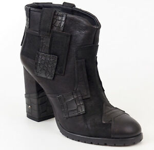 Alek 37 Ankle Neu Patchwork Schwarz Heels Boots High Leder Stiefelette Fornarina CBrdxeo