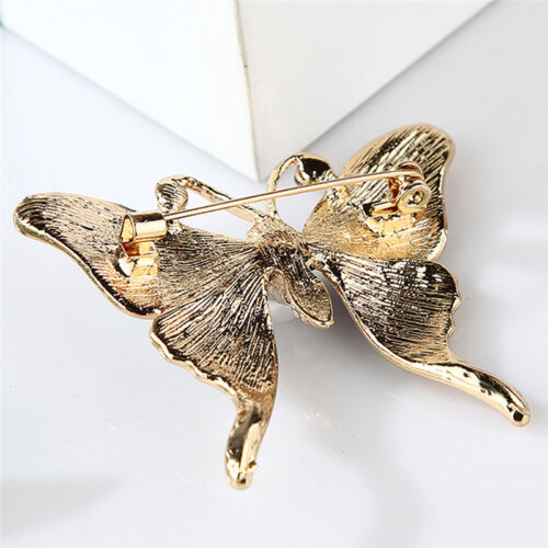Enamel Butterfly Brooch Pin Rhinestone Crystal Collar Animal Brooch Jewelry TC