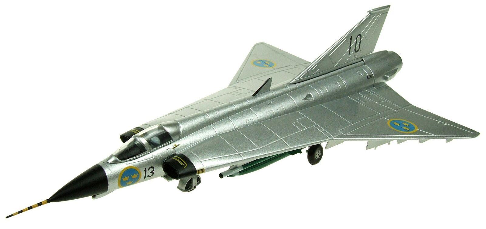Aviation 72 AV7241004 1 72 Saab Draken J-35 de la fuerza aérea sueca natural Metal SC..