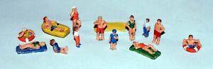 Beach-People-A110-UNPAINTED-N-Gauge-Scale-Langley-Models-Kit-People-Figures