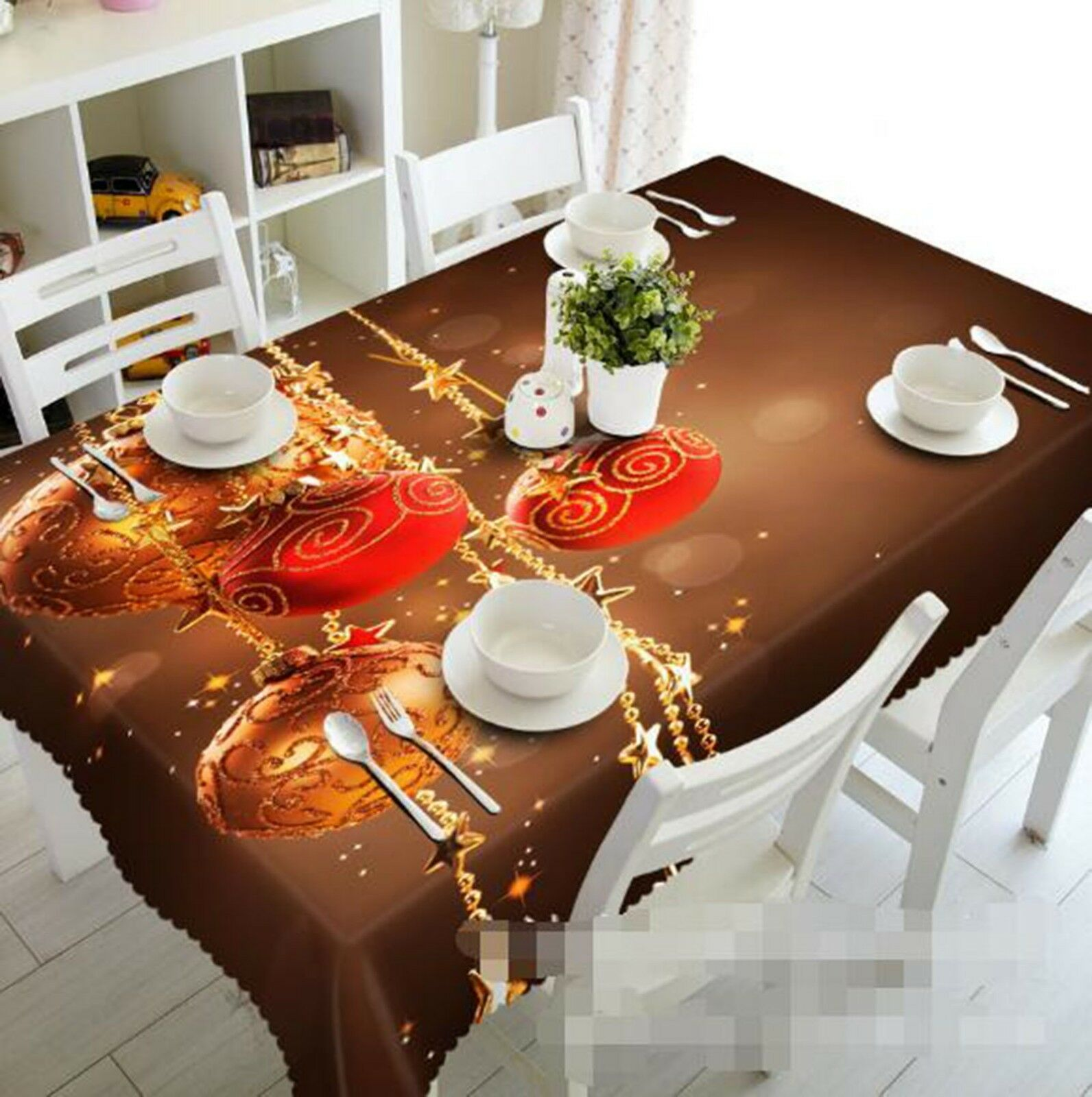 3D rouge Ball Pattern 1 Tablecloth Table Cover Cloth Birthday Party Event AJ Lemon