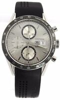 AUTHENTIC TAG HEUER CARRERA CV2011.FT6007 CHRONOGRAPH AUTOMATIC RUBBER WATCH