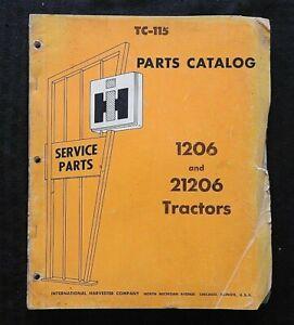 1965-67 INTERNATIONAL HARVESTER 1206 21206 FARMALL TRACTOR PARTS CATALOG MANUAL
